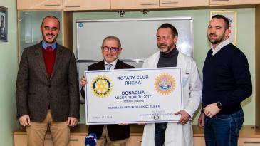 Rotary klub Rijeka prikupio 118 tisuća kuna za bolnicu