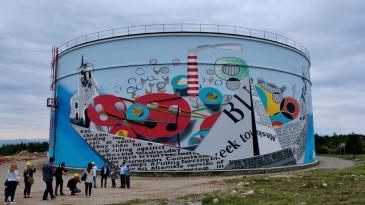 Kostrenu krasi najveći oslikani spremnik u Hrvatskoj
