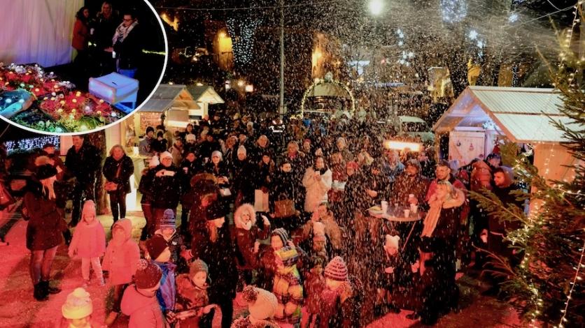 Snijeg i svjetlosni efekti na otvaranju čarobnog Adventa
