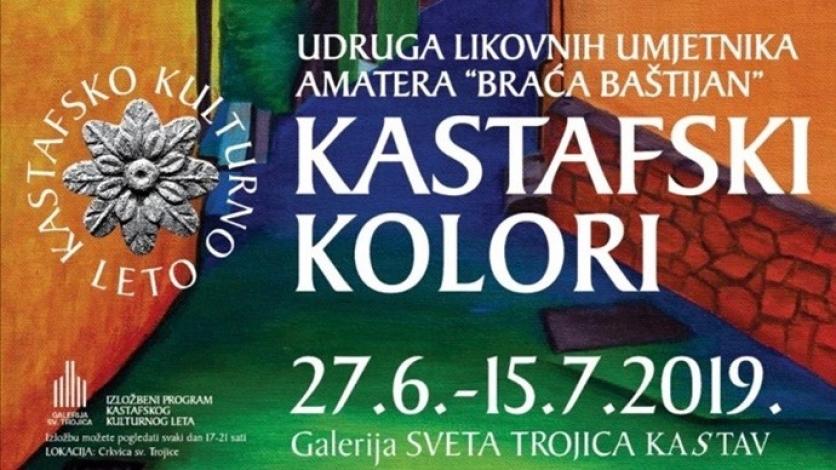 """""""Kastafski kolori"""" u Galeriji Sv. Trojica"""