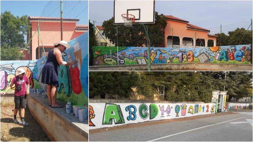 Novo šareno ruho zidova Područne škole Šmrika