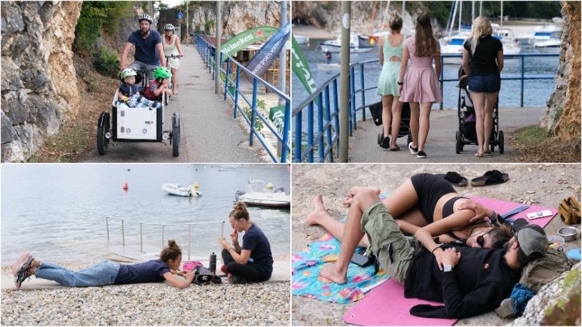 (FOTO ĐIR) Šetači uživali u Kostreni, kupača sve manje