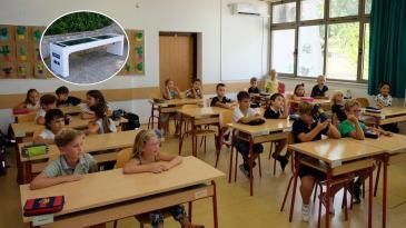 Kostrenskoj školi INA donirala klime i pametnu klupu