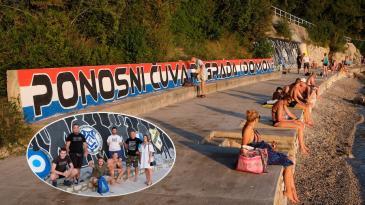 Armadin mural od danas krasi kraljevičku uvalu Carovo