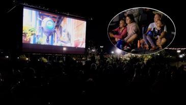 Kino pod vedrim nebom razveselilo najmlađe Kostrenjane