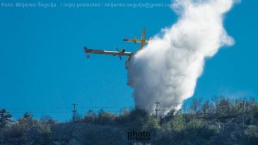 Požar u blizini vodospreme Sopalj u Kostreni