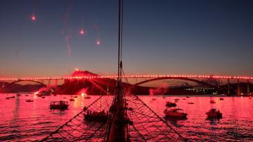 Spektakl Armade na Krčkom mostu pa fešta u Kraljevici