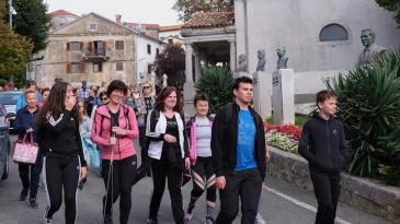 Atraktivna šetnja u Kastav privukla stotinjak sudionika
