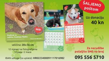 Kupnjom kalendara pomozite napuštenim životinjama