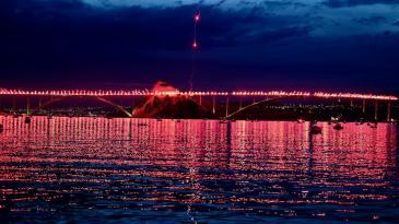 Krčki most zasjao poginulim hrvatskim braniteljima u čast
